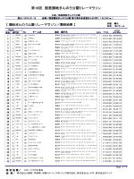 第16回国営讃岐まんのう公園リレーマラソン【2nd】