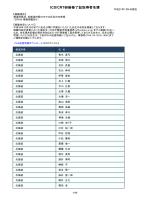 ICD/CRT研修修了証取得者名簿