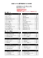 H26 全道フットサル選手権2015(U-14の部) 組合せ