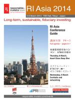 RI Asia 2014 - Responsible Investor