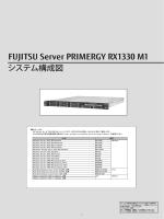 PRIMERGY RX1330 M1 システム構成図 (2015年2月版) 樹系図