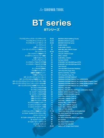BTシリーズ - Showa Tool