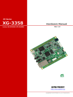 XG-3358 ハードウェアマニュアル