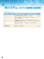 光システム(CATV・地域情報・監視管理)