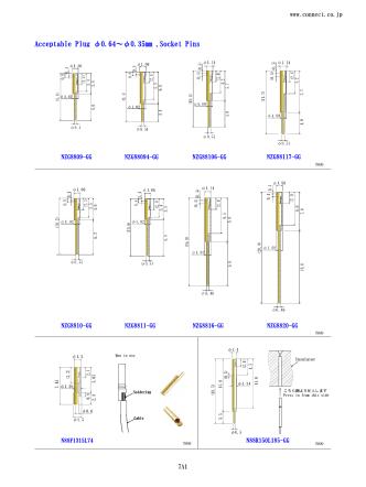 Acceptable Plug φ0.64~φ0.35mm ,Socket Pins