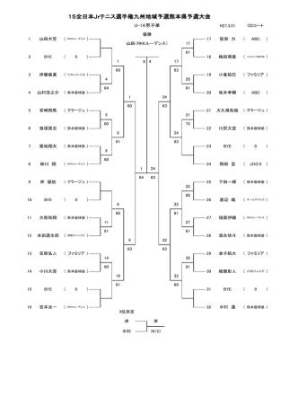 2015全日本ジュニアテニス選手権・県予選・結果;pdf
