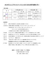 MUFGジュニアテニストーナメント2015大分県予選