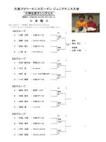 大島フラワーテニスガーデン ジュニアテニス大会 ≪ 本 戦 ≫