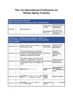 The 1st International Conference on Global Aging Tsukuba