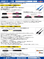 録画対応表 LAN録画・iLINK録画 統合版 Ver1.2 - 1
