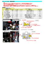 スバル XV GP7系 装着参考資料 結線情報 車両タイプ1 本 体 1 2 3 4