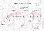 神武寺トンネル拡幅工事全体平面図