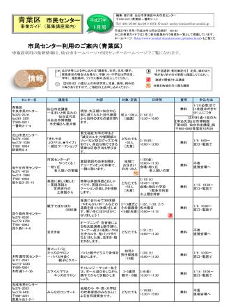 2.00MB - 仙台市市民センター