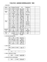 平成26年度 滋賀県高P連理事会役員等一覧表