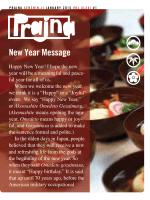 New Year Message - Senshin Buddhist Temple