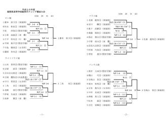-1- 平成26年度 福岡県高等学校総体ボクシング競技大会 5/24 25 31 6