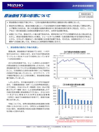 2014/12/29 原油価格下落の影響について (みずほ投信