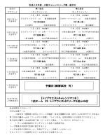 予備日(練習試合 可) 【トップウエストチャレンジマッチ】 1位チーム VS