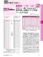 ボタン一発! Excelより 断然速い自動グラフ作成 ツールFreeG