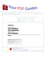 使用方法 DENON AVC-S500HD