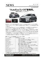 「AutoExe DJ-05」商品概要(マツダ デミオ DJ 系用)
