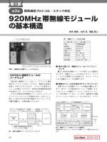 920MHz帯無線モジュール の基本構造