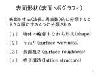 表面形状(表面トポグラフィ)