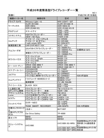 (簡易型ドライブレコーダー) (PDF 59kb)