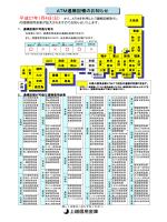 ATM通帳記帳のお知らせ
