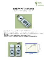 携帯型クロロフィル蛍光測定器