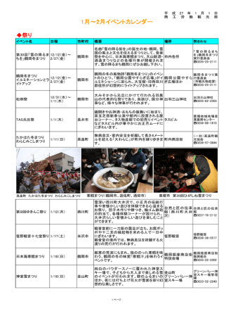 2015年1月・2月 - 山形県ホームページ