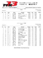 ≪ MK 1 3 鎌田学杯 ≫