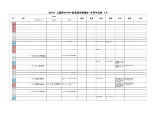 2015 三重県サッカー協会技術委員会 年間予定表 1月