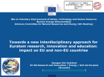 Towards a new interdisciplinary approach for Euratom