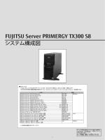PRIMERGY TX300 S8 システム構成図 (2015年2月版) 樹系図