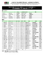 平成26年度男子ユニバーシアード日本代表チーム 日本代表候補選手 第