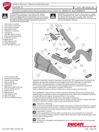Cod. ISTR - 580 Pag. - Page 1/5 ED./ED. 00 Attenzione