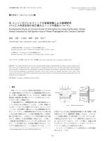 SI エンジンのクレビスノックの容器実験による基礎研究
