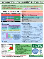 AUTOSARプラットフォームの開発とオープン化