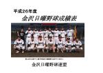 金沢日曜野球成績表 - 金沢日曜野球連盟