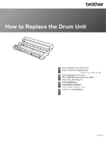 How to Replace the Drum Unit