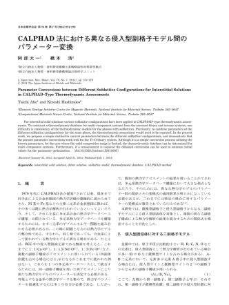 CALPHAD 法における異なる侵入型副格子モデル間の