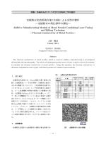 金属粉末光造形複合加工技術による金型の製作 ―金属粉末の熱伝導率