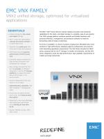 EMC VNX ファミリ:データ シート
