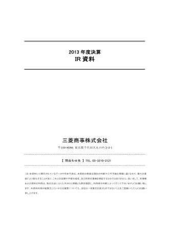2013年度決算IR資料 (PDF:535KB)