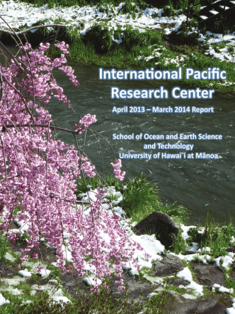 Annual Report 2014 - International Pacific Research Center