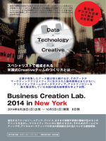 Business Creation Lab. 2014 in New York ご参加申込書