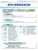 薬物代謝酵素阻害試験
