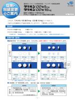錠剤への識別コード表示およびPTPシート変更(新バーコード表示)
