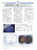高飽和磁束密度・高強度メタルパウダーコア (PDF: )